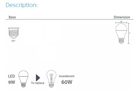 WELLMAX可控硅调光球泡