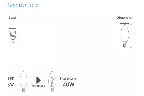 WELLMAX可控硅调光烛泡