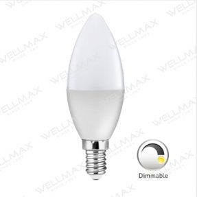 WELLMAX Dimmable LED Candle Bulb