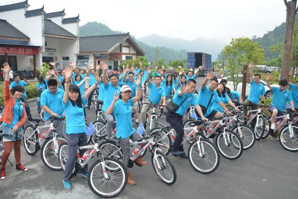 骑车踏春千岛湖